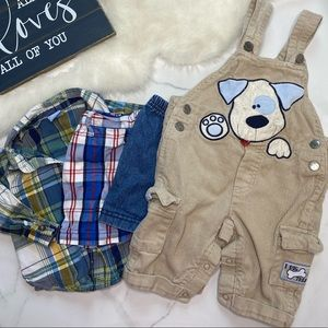 🎉Bundle baby boy overalls shorts buttons B7-16